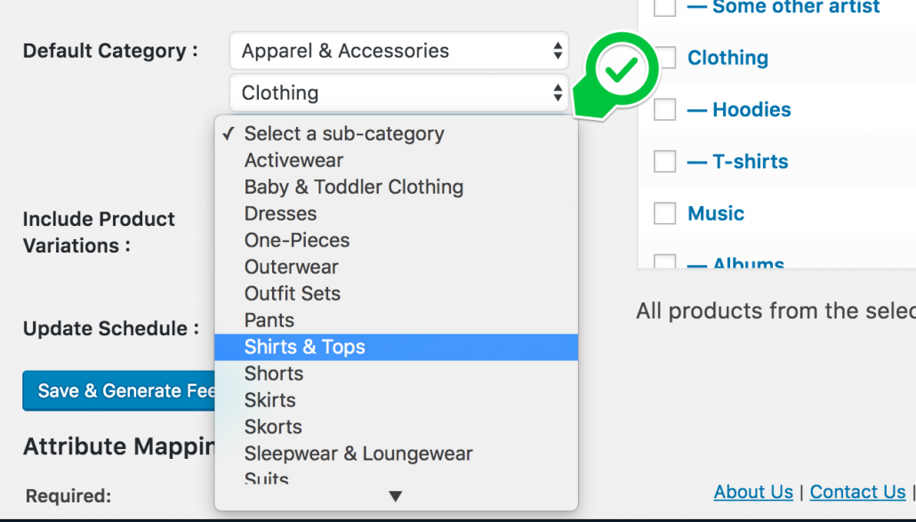 Choose default channel category
